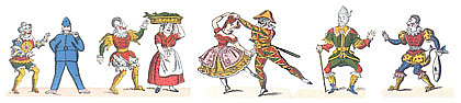 Characters from the Commedia dell' Arte