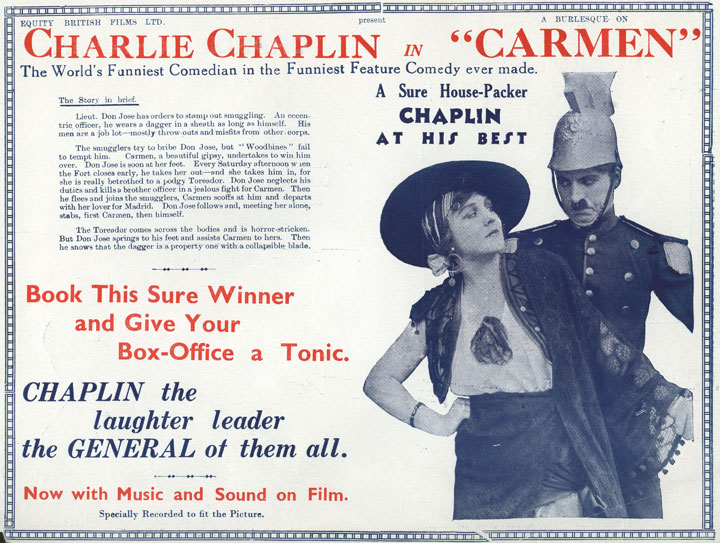Press Books: Charlie Chaplin's Burlesque On Carmen