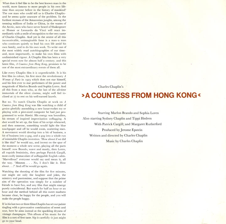 Press Books: A Countess From Hong Kong