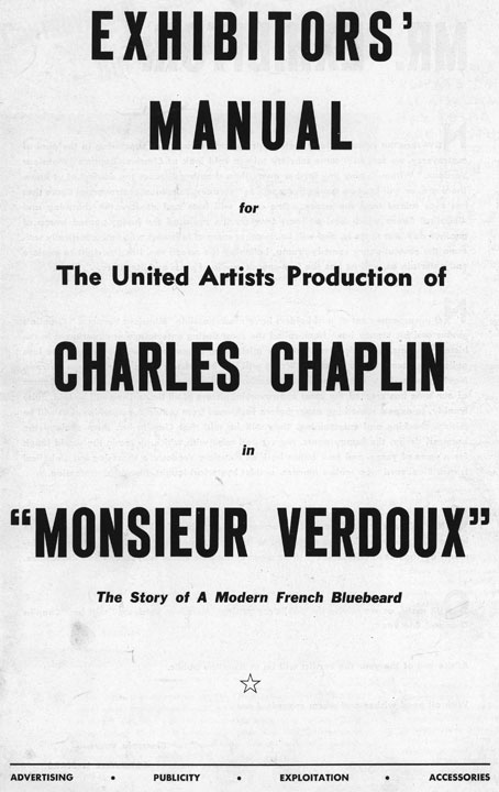Press Books: Monsieur Verdoux